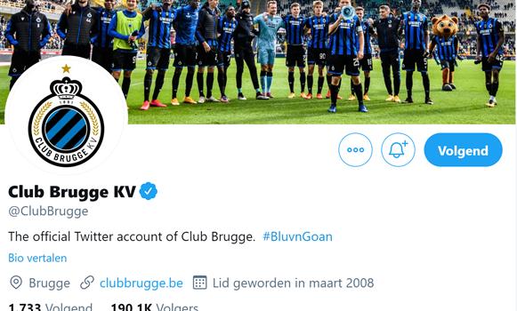 Sociale media Club Brugge